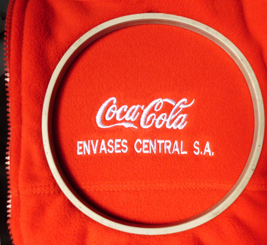 Bordado Coca Cola Envases Central